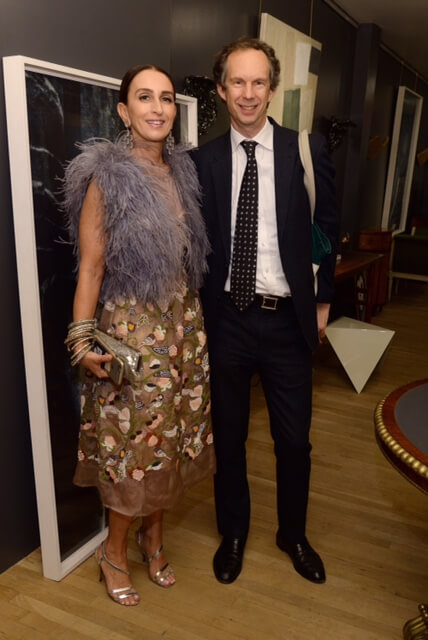 NEW YORK, NY - NOVEMBER 04: Christina Juarez (L) and Charles Miers attend Suzanne Rheinstein's book party at Gerald Bland NYC on November 4, 2015 in New York City. (Photo by Ben Gabbe/Getty Images for Suzanne Rheinstein)