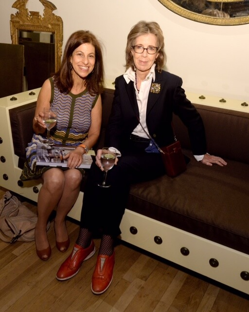 NEW YORK, NY - NOVEMBER 04: Nadia Zilkha (L) and Marianne Hinton attend Suzanne Rheinstein's book party at Gerald Bland NYC on November 4, 2015 in New York City. (Photo by Ben Gabbe/Getty Images for Suzanne Rheinstein)