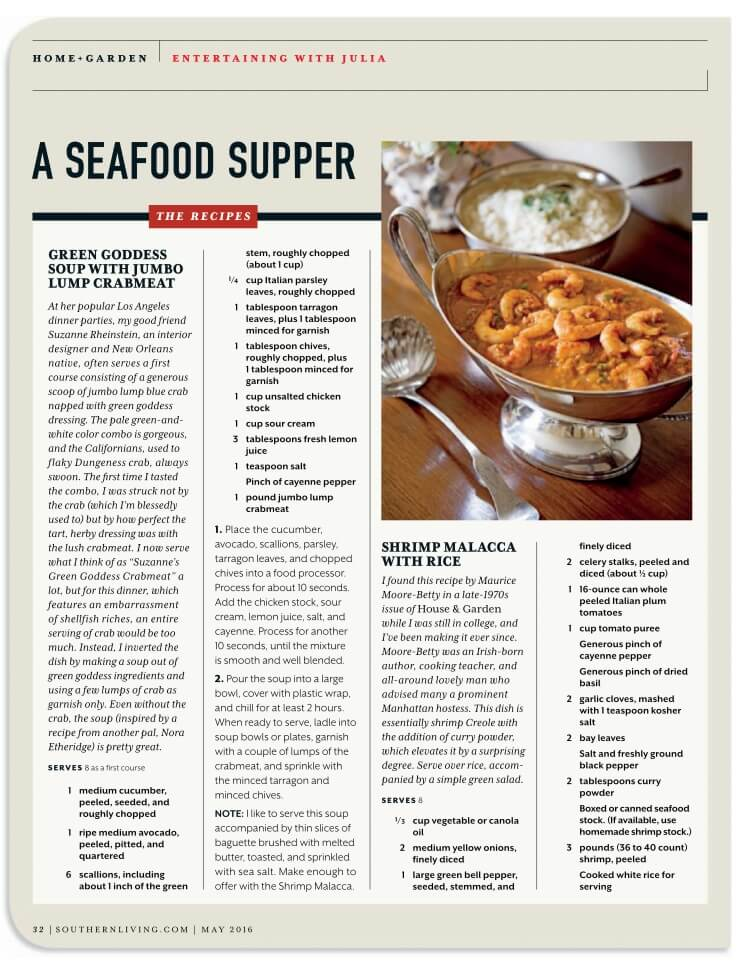 SR recipe southern living may 2016 p 1
